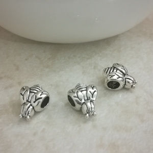 """Jewelry - 3pcs Stainless Steel """"Bumble Bee"""" Charms Spacers"""